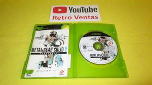 Metal Gear Solid 2 Sustance Xbox Clasico 1 Player