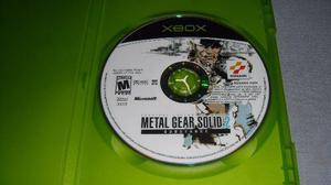 Metal Gear Solid 2 Xbox Clasico Tactical Espionage Action