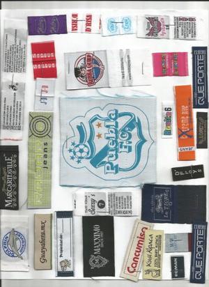 Mil etiquetas bordadas en 4 cm de ancho por 7 cm de largo y