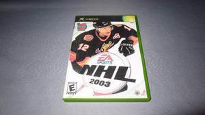 Nhl 2003 Xbox Clasico **juegazo Portada Custom**