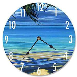Stupell Inicio Decor Palm Tree Shadows Reloj De Pared Decora