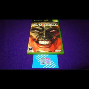 Tao Feng Fist Of The Lotus Xbox Clasico *cd En Excelente Edo