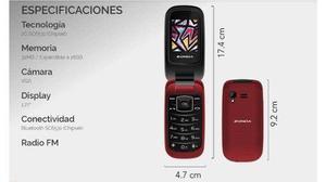 Telefono Celular Flip Folder Zm120 Para Telcel Unefon Att