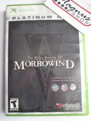 The Elder Scrolls 3 Morrowind Xbox Clasico Primera Generacio