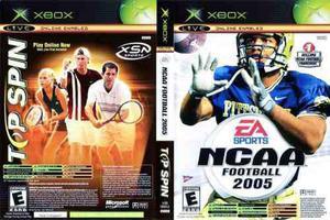 Top Spin + Ncaa Football 2005 Xbox Clásico