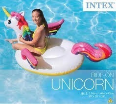 Unicornio Inflable Gigante + 1 Portavaso Unicornio Gratis