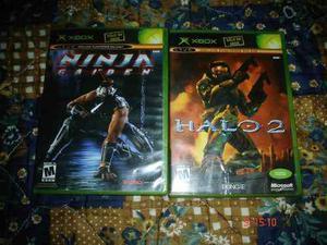 X-box Halo 2 Y Ninja Gaiden Xbox Clasico