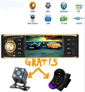 Auto Estereo Bluetooth Camara Reversa Control Volante Tft4.1