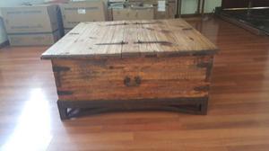 Baul doble de madera