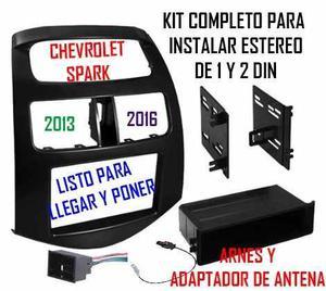 Frente Adaptador Estereo 1 Y 2 Din Chevrolet Spark