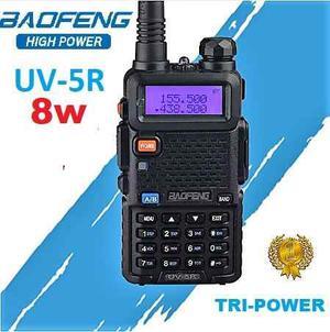 8w Radio Baofeng Uv-5r Vhf/uhf * Tri Power * Maxima Potencia