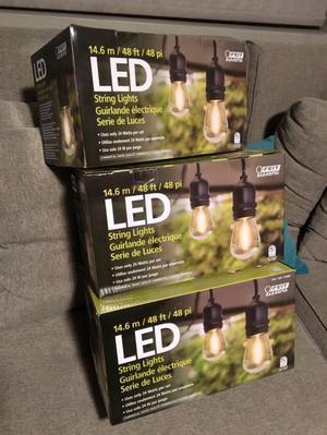 Serie de luces led vintage para exterior