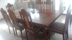 Comedor de madera 8 sillas