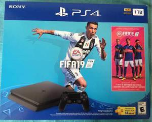 Consola Playstation 4 Slim Ps4 Fifa 2019 1tb Nueva Sellada