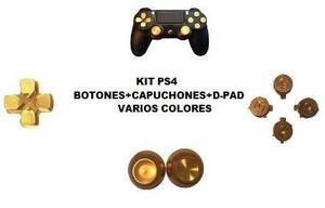 Kit Capuchones+botones+d-pad Metalico Ps4 Envió Gratis