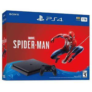 Playstation 4 Ps4 Slim 1tb Con Juego Marvel's Spider-man