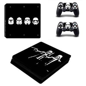 Skin Ps4 Slim Darth Vader Star Wars Para Consola Y Controles