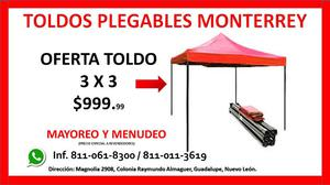 TOLDOS PLEGABLES REFORZADOS