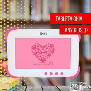 Tablet Ghia Any Kids Q+ Niña 1gb Ram Oferta Navideña