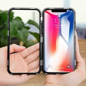 Funda Iphone 6s 7 8 Plus X Xs Max Xr Aluminio Magnetica Meta