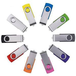 Paquete De 10 Memorias Usb 2.0 Flash Enfain 128mb-multicolor