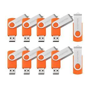 Paquete De 10 Memorias Usb 2.0 Flash Kootion 4gb -naranja