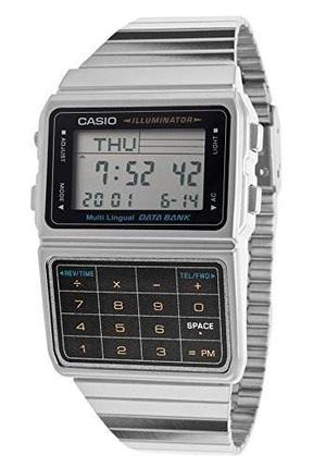 Reloj Casio Dbc611 Calculadora 8dig. Data Bank Plata Wr