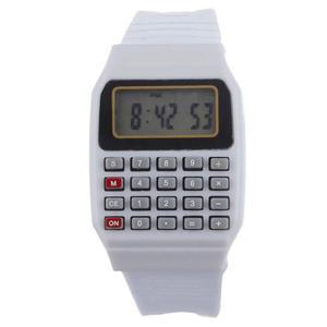 Reloj Retro Blanco Con Calculadora