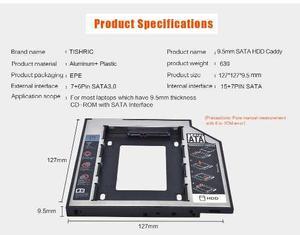 Segundo Disco Hdd Caddy Sata 9.5 Mm Laptop Mac Book