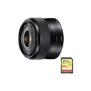 Sony - Objetivo De Montaje En Cámara Fijo De 35 Mm F / 1.8