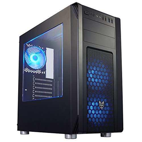 Fsp Atx Mid Tower Pc Computer Gaming Case Translucent Side W