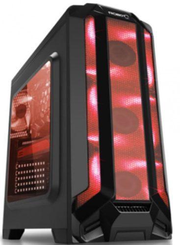 Gabinete Eagle Warrior Gaming Robotq Rojo Panel Acrilico 3 V