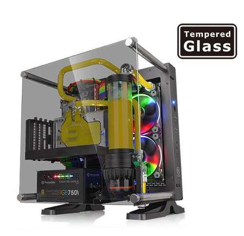 Msi Gabinete Thermaltake Core P1 Negro Mini-itx Vidrio Templ