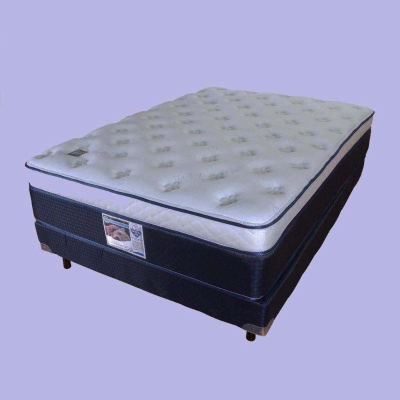 COLCHON DE 35 CM Y BASE BOX SPRIN. MARCA SPRING AIR, CAMA