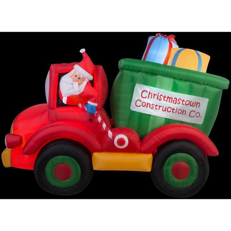 Camión Animado Inflable de 8 pies por 6 pies con regalos.