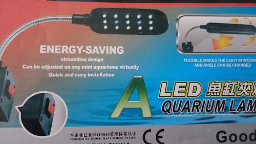 Lampara Led De Clip Para Acuarios De Hasta 50l 3.5watts