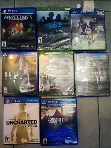 Lote De Juegos Para Ps4 Y Xbox One Nuevos