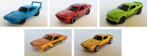 Paquete 5 Autos Musclemania  Dvg01 Hot Wheels Mattel