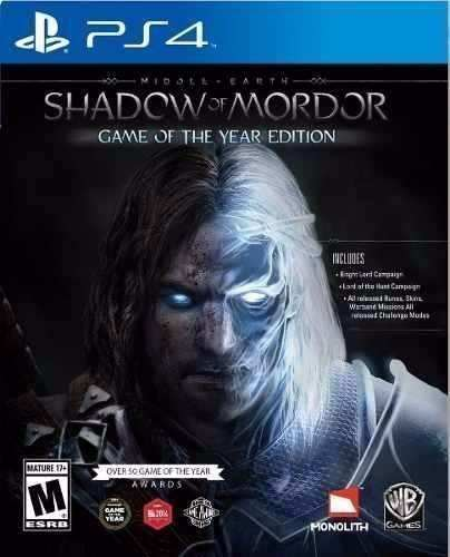 Shadow Of Mordor Game Of The Year Edition Goty Ps4 Nuevo