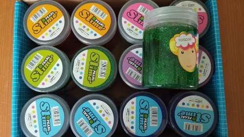 24 Botes Slime Con Brillantina