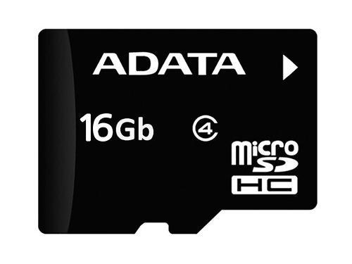 Adata Ausdh16gcl4-ra1 Micro Sdhc 16 Gb Con Adaptador A Sd Cl