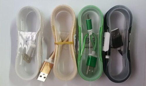 Cable Usb V8 Diseño De Nailon, En Carrete De Plástico