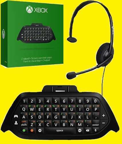 Chatpad Xbox One Microsoft Teclado Cable Usb Diadema Windows