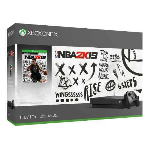 Consola Microsoft Xbox One X De 1tb Nba 2k19, Color Negro,