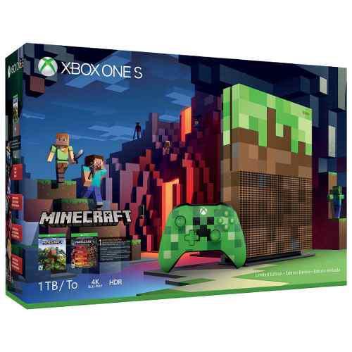 Consola Microsoft Xbox Uno S 1tb Minecraft Limited Edición