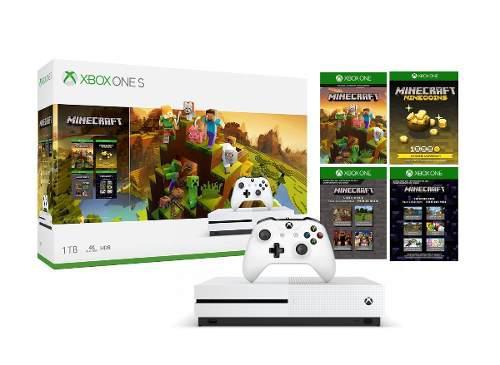 Consola Xbox One S 1tb 4k Hdr Paquete De Creadores Minecraft