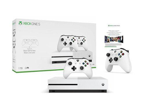 Consola Xbox One S 1tb 4k Incluye 2 Controles + Game Pass