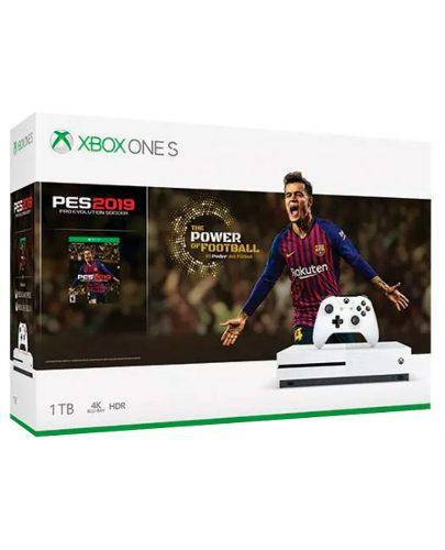 Consola Xbox One S 1tb Blanco Con Pro Evolution Soccer 2019
