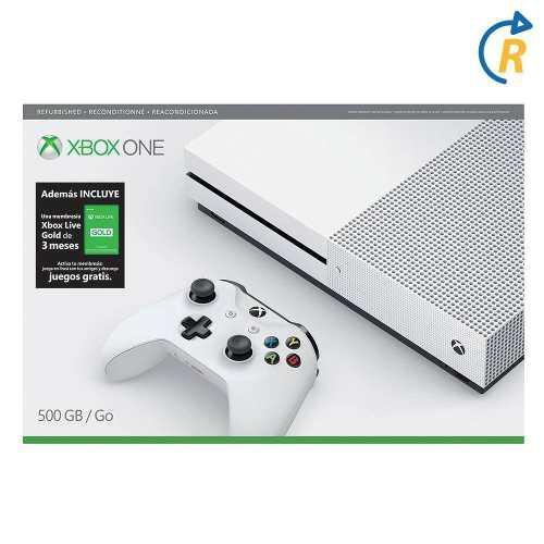 Consola Xbox One S 500 Gb + Gold 3 Mese Reacondicionada