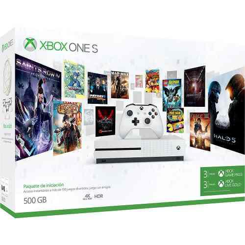 Consola Xbox One S 500 Gb + Membresía Game Pass (3 Meses) Y